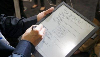 Записная книжка Sony с E-Ink панелью